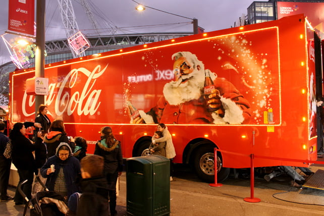 Wembley Coca Cola truck 2
