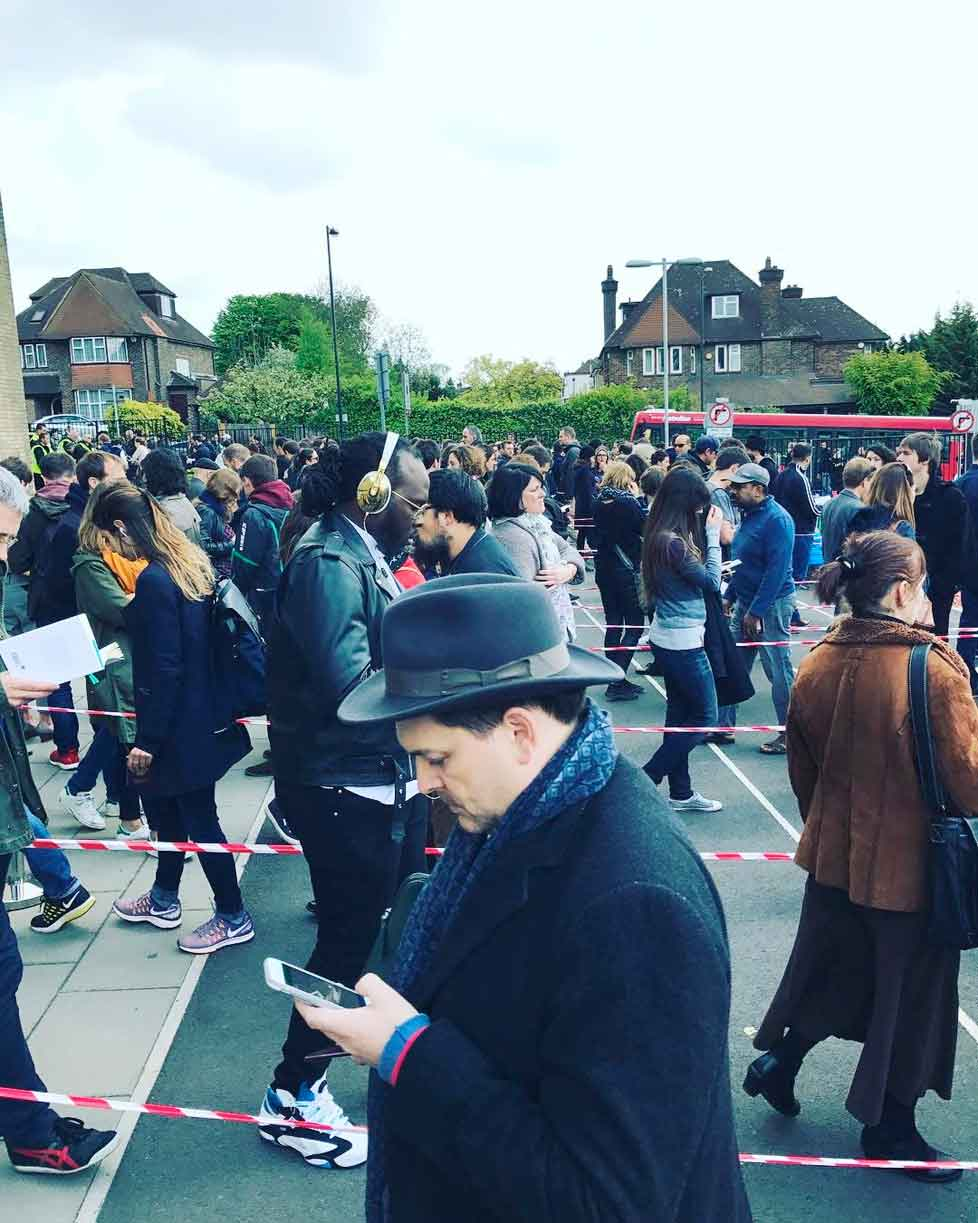 People queuing for French elections in Wembley