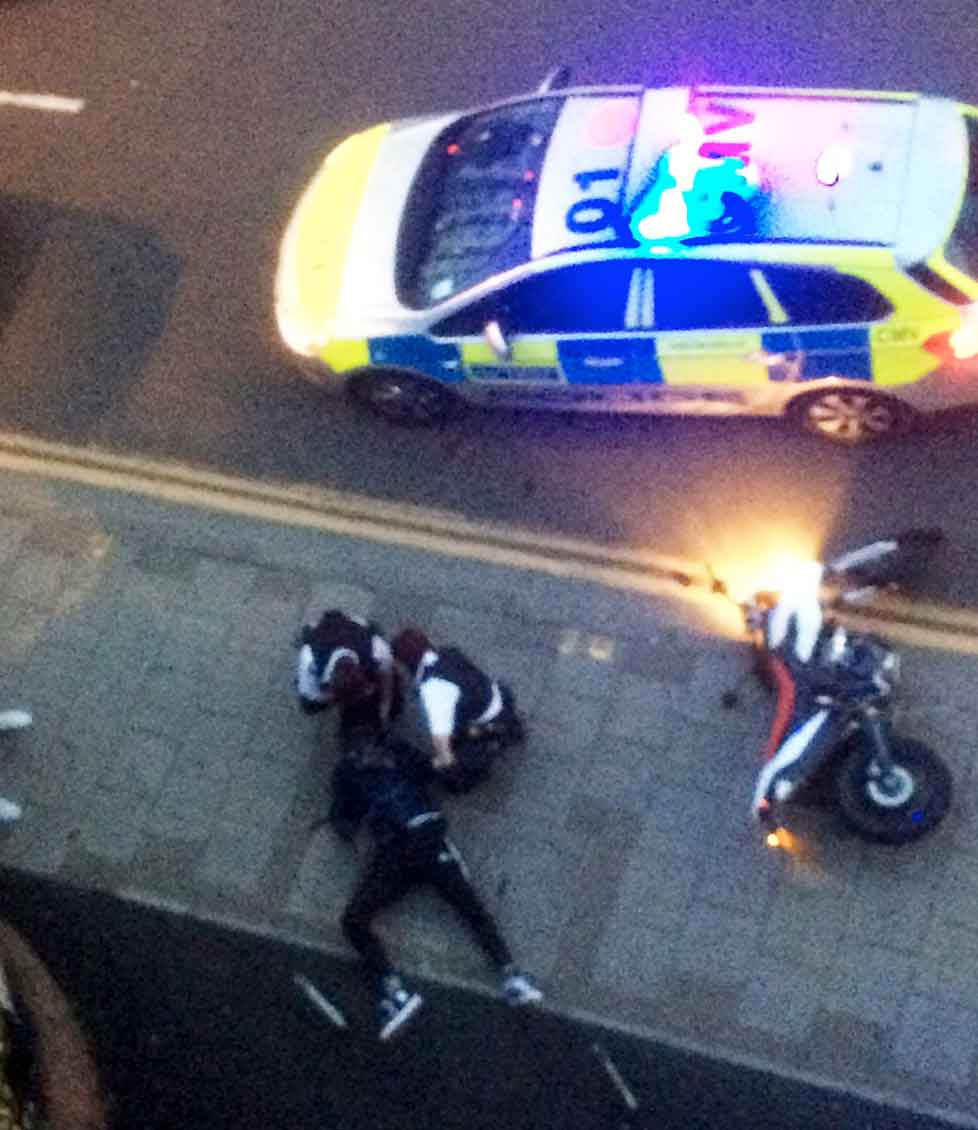 Road accident involving Deliveroo rider in Wembley Park